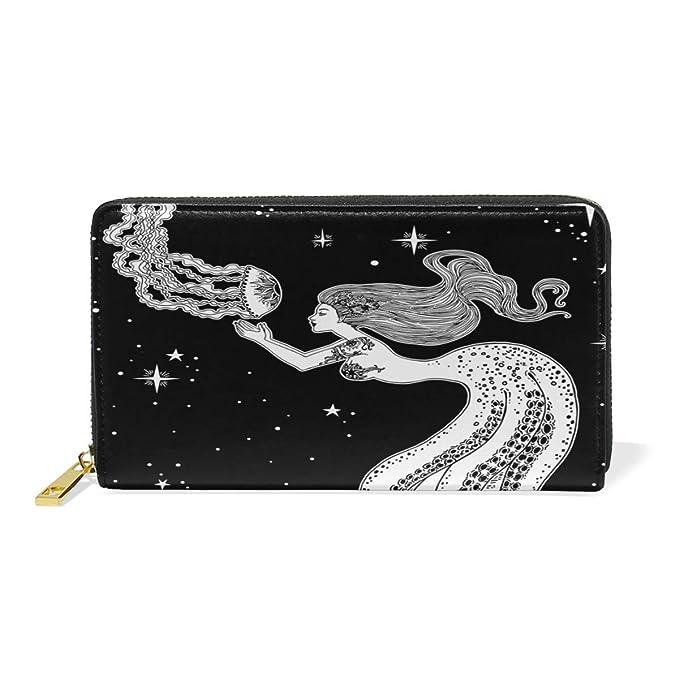 Amazon.com: Monedero de piel para mujer, Galaxy Octopus ...
