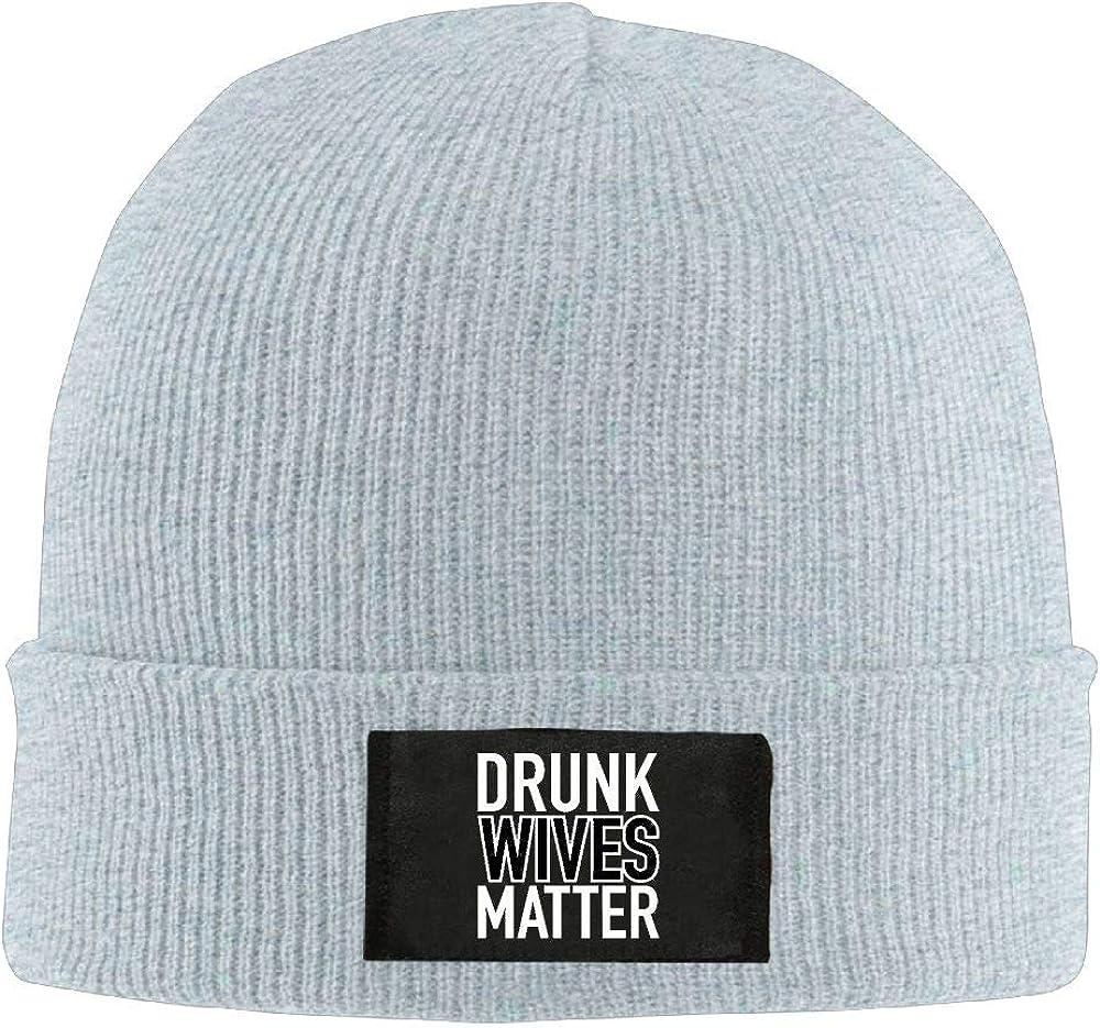 DLOAHJZH-Q Adult Unisex Drunk Wives Matter Casual Wool Cap