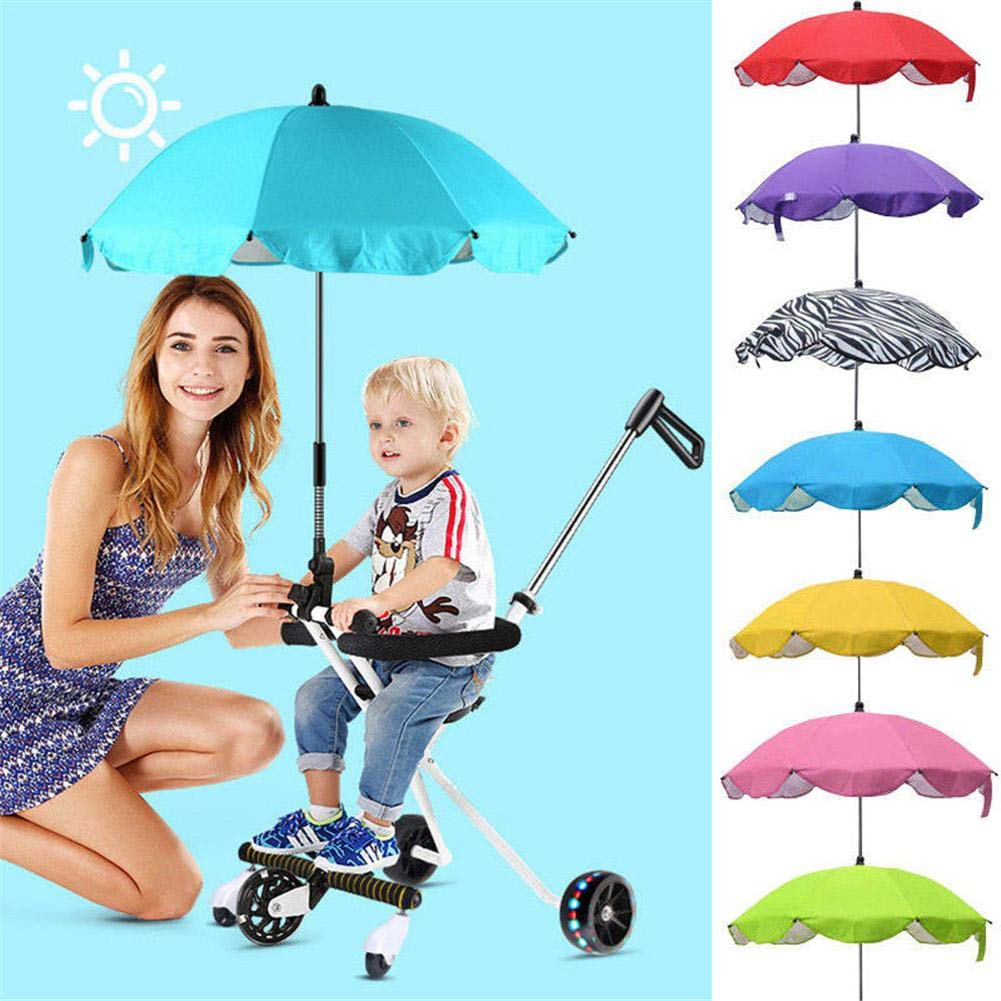 Pram Stroller Shade Canopy Cover Protects Babies and Infants from UV Rays Beimaiji Trade Baby Umbrella Stroller,Kids Sun Umbrella Flexible Flexible Parasol Buggy Pushchair