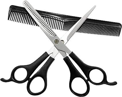 Sunwuun Tijeras Peluqueria Kit Tijeras de peluquería Set Profesional 3PC Tijeras de Pelo Tijeras de Corte Salon Barber Hair Cutting Thinning Set de peluquería Herramienta de Peinado: Amazon.es: Belleza