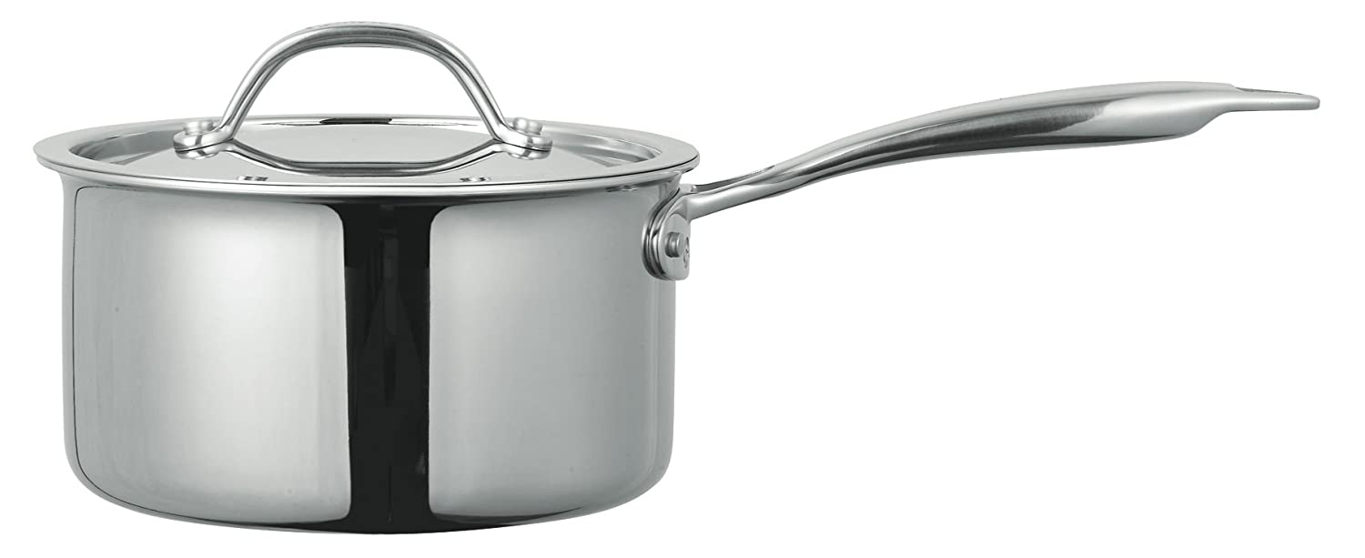 Cuisinox POT-414 Super Elite Covered Saucepan, 1-Liter, Stainless Steel