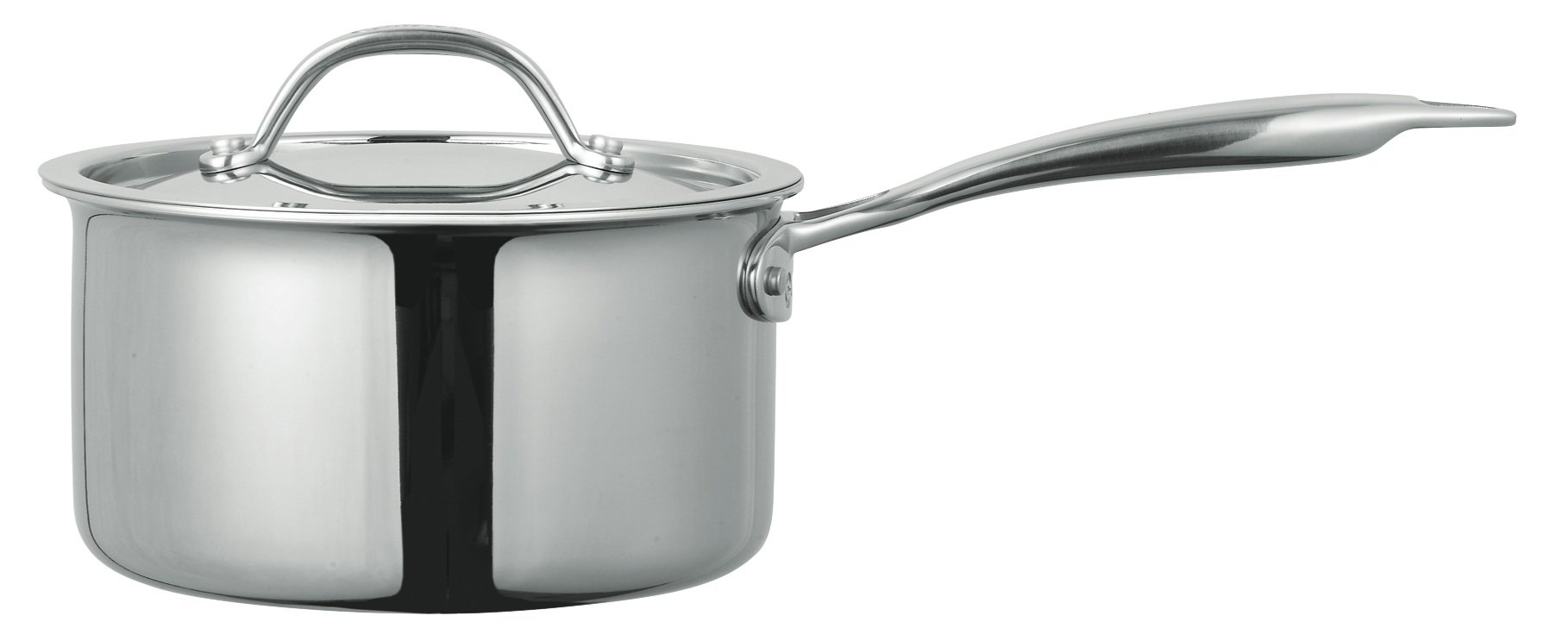 Cuisinox POT-418 Super Elite 3 Quart Covered Tri-Ply Bonded Saucepan, Stainless Steel