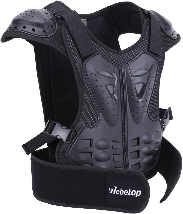 Webetop Kids Dirt Bike Body Chest Spine Protector Vest Gear for Motocross Skiing