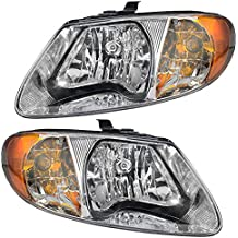 Driver and Passenger Headlights Headlamps Replacement for Dodge Chrysler Van 4857701AC 4857700AC