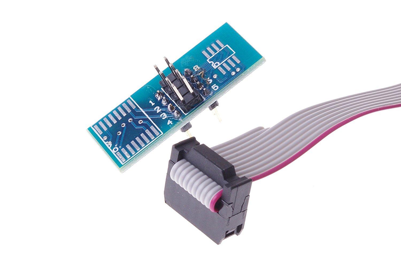 SMAKN/® Soic8 Sop8 Flash Chip Ic Test Clips Socket Adpter Bios//24//25//93 Programmer TRTV1627