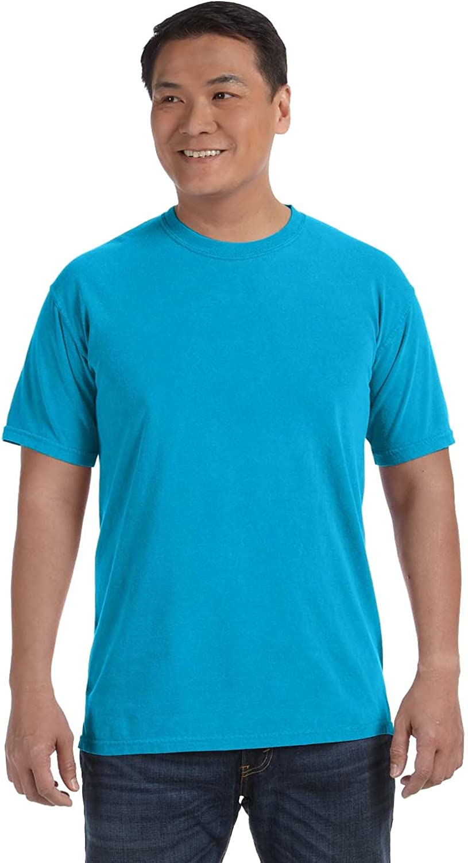 Chouinard Comfort Men's Knit Collar Garment Dye Hem T-Shirt