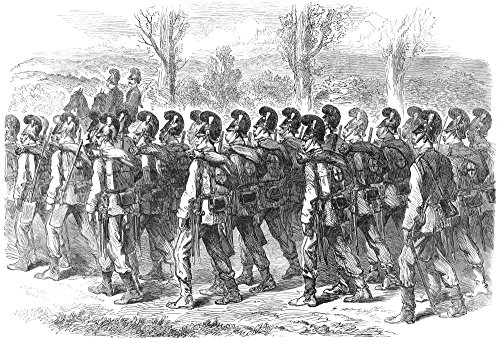 Bavarian Soldiers 1870 Nbavarian Jaegers On Their March To The Front During The Franco-Prussian War Wood Engraving From An English Newspaper Of 1870 Poster Print by (18 x 24)