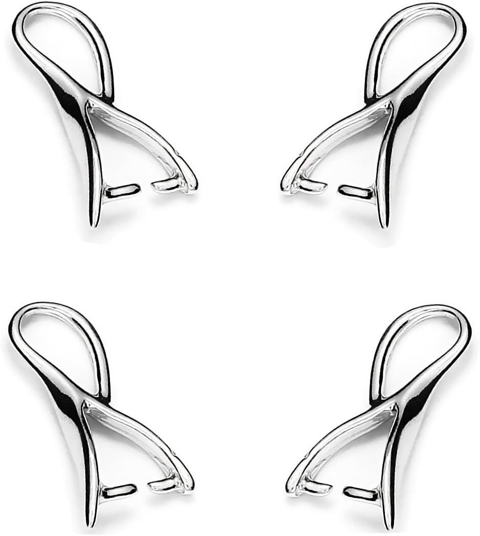 My-Bead 10 piezas enganche colgante plata de ley 925 remolque 17mm conector para collar bricolaje