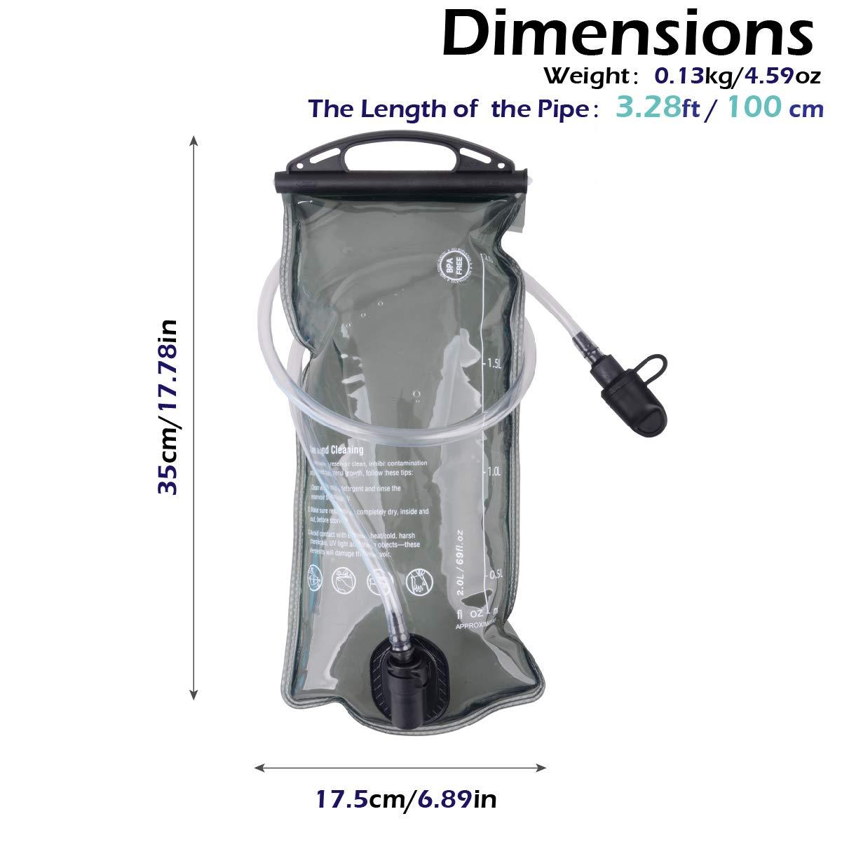 TRIWONDER TPU Bolsa de Agua Soft Flask 1.5-2-3L Vejiga de ...