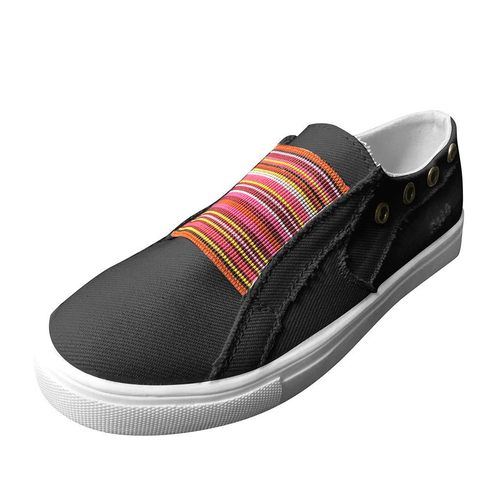 LIM&Shop Summer Sneakers Casual Slip On Strapless Comfy Anti-Slip Flat Tl Shoes Hollow Round Toe Sport Running Shoes