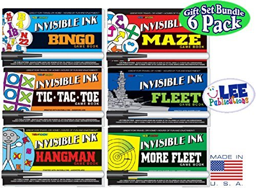 Fleet /& More Fleet Activity Books Gift Set Bundle Hangman Maze Invisible Ink: Yes /& Know Game Books Bingo 6 Pack Tic-Tac-Toe Hangman Maze Fleet /& More Fleet Activity Books Gift Set Bundle Tic-Tac-Toe 6 Pack Lee Publications