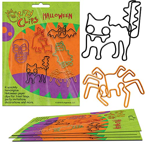 (Halloween Paper Clips for Classroom, Home, Office - Fun School Supplies. Super Cute Office Supplies. 6 Jumbo Paper Clips per Pack: Package of 5.)