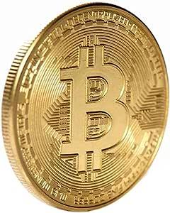 Pgige Monedas conmemorativas de Bitcoin Monedas de Recuerdo chapadas en Oro Redondas Colecciones de Monedas delicadas Imitación de Regalo Comercial Bitcoin: Amazon.es: Juguetes y juegos