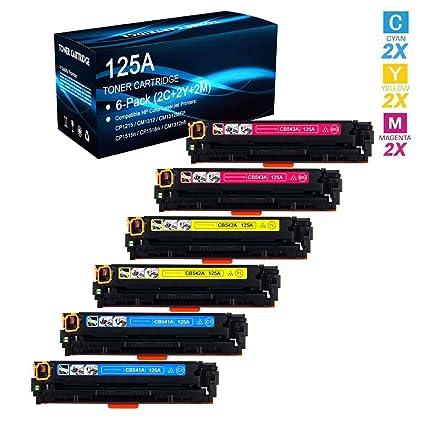 6x CB542A Yellow Toner 125A for HP Color LaserJet CM1312 CM1312nfi CP1515 CP1215