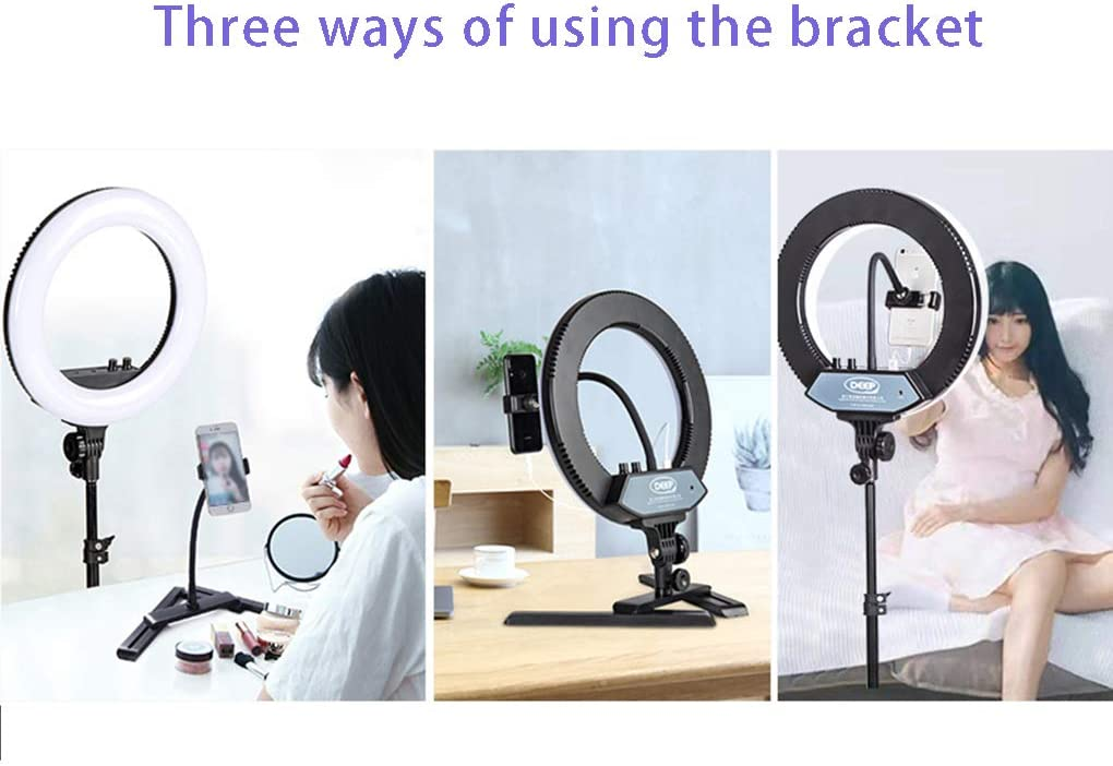 WenFei shop Ring Light Kit,14 inches,3200-6000K,Dimmable LED Ring Light with Light Stand,Rotatable Phone Clip,Bluetooth Remote Control for Portrait Makeup and Live Stream