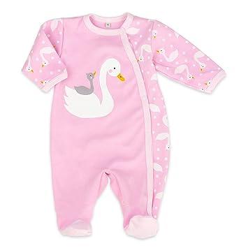 9b2d4d89fe Baby Sweets Baby Strampler Mädchen rosa   Motiv: Schwan   Babystrampler mit  niedlichem Motiv für