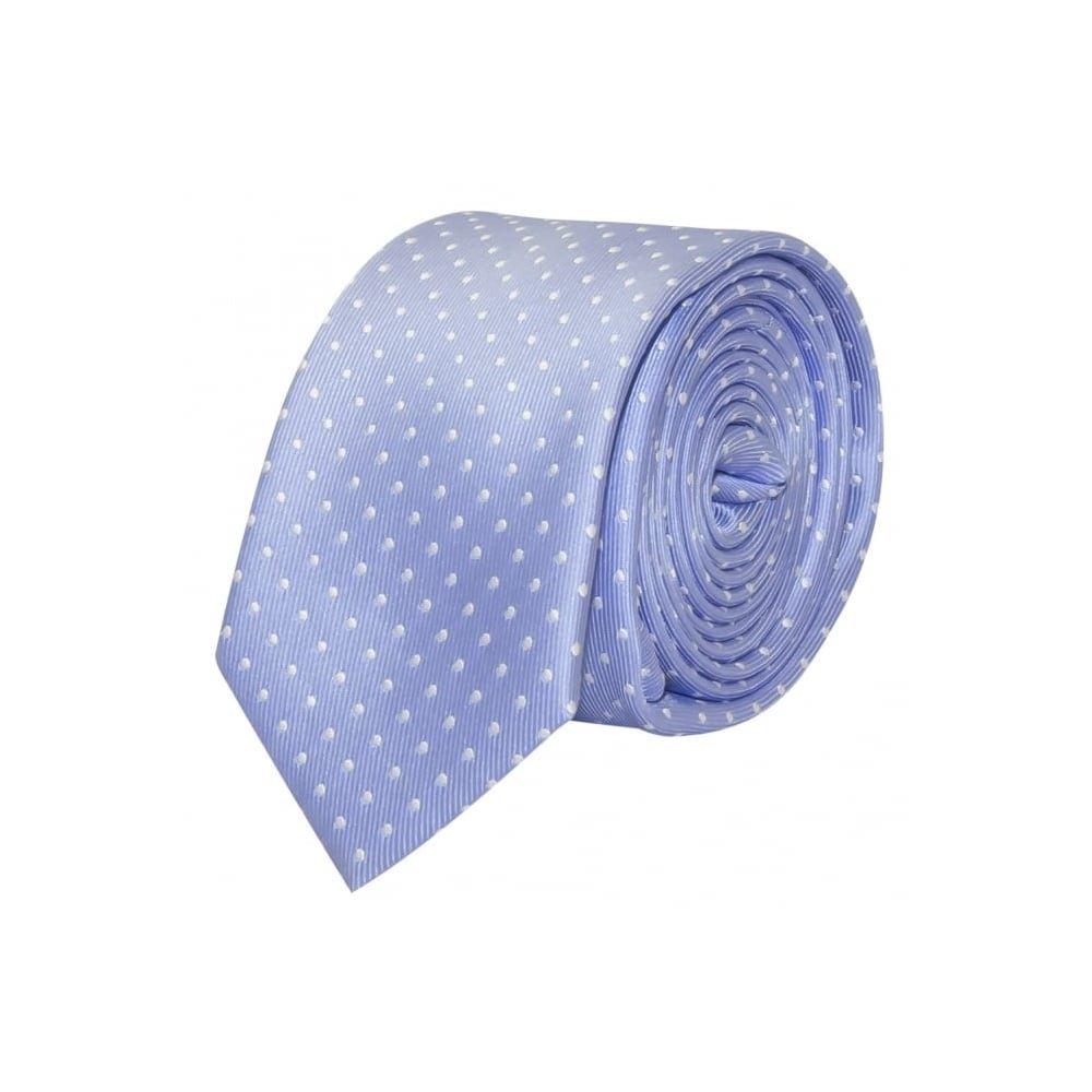 TIES R US Light Blue and White Polka Dot Skinny Boyss Tie