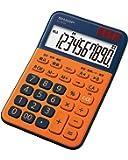 シャープ カラーデザイン電卓 10桁表示 オレンジ系 EL-M335-DX