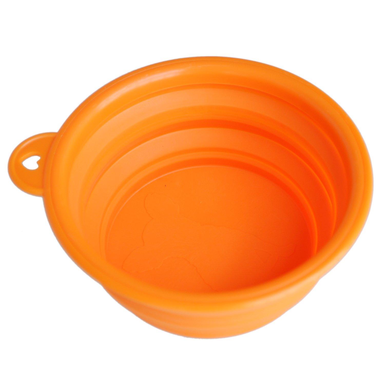SODIAL (R)Portable Chien/Chat Nourriture / eau Pliable pliante Bol pour Voyage ---Orange SODIAL(R) 018841