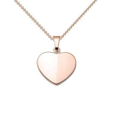 0e9529d5a832 Herzkette Rosegold Kette Zirkonia Stein Damen  Silber 925 hochwertig  vergoldet  +GRATIS Etui mit