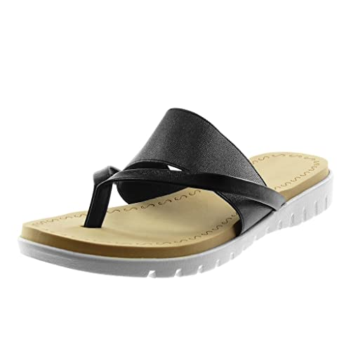 Angkorly Chaussure Slip Tong Métallisé Sandale Semelle Mode On hdsQtr