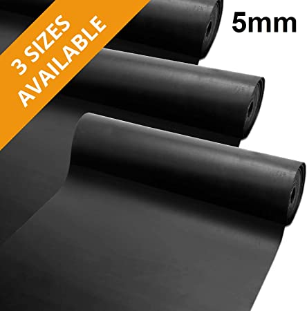 120x100cm Rubber Sheeting Roll Anti-Slip Shock Proof Flooring /& Seals etm Electrical Insulating Rubber Sheet Acid-Resistant Protective Material for DIY Projects 5mm