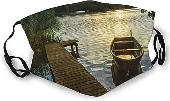 Amazon.com: Multi Usage Face Cover Up Boat At Lake Shore ...