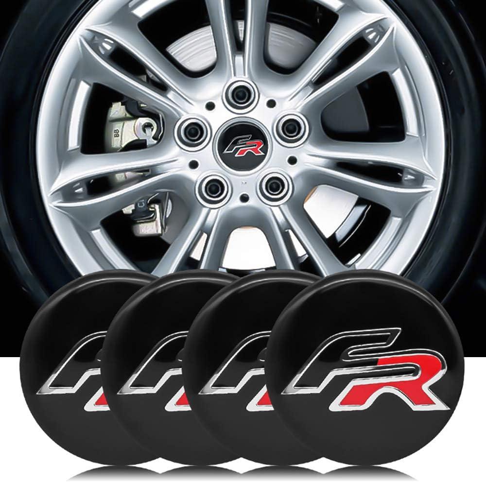 N//A 56 mm Auto-Radkappen-Aufkleber f/ür Seat Leon FR Cupra Ibiza Altea Exeo