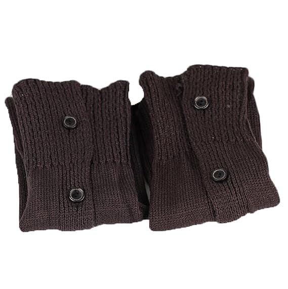 Jelinda Lady de invierno Crochet de Punto Botón lateral borde calcetines de arranque puños cubierta calentadores calcetín gris oscuro: Amazon.es: Ropa y ...
