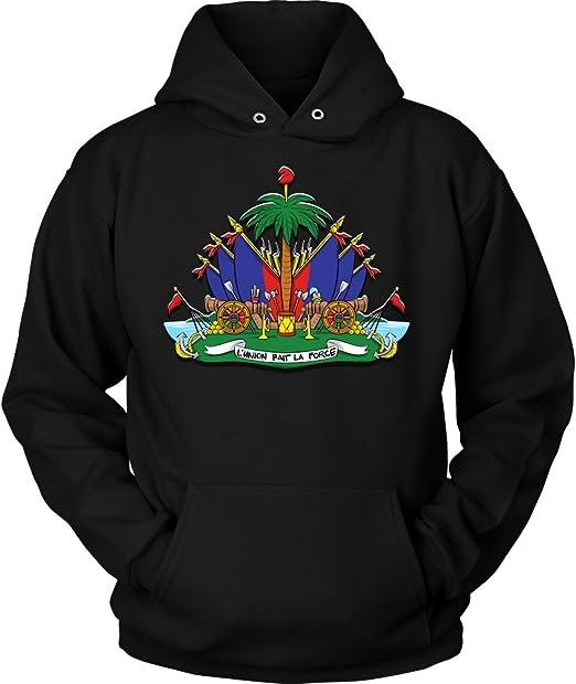 EightyThree XYZ Haiti Coat of Arms Haitian Symbol Men Zipper Hoodie Sweatshirt XS-3XL