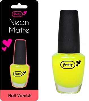 Pretty Neon Matte Nail Varnish 15ml Yellow