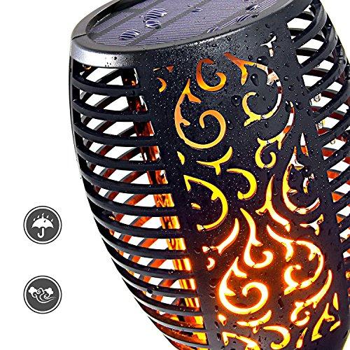 Nusun lite Solar Lights Dancing Flames Lights Solar Torch Lights Waterproof Wireless Flickering Torches Lantern Outdoor for Garden Patio Yard Driveway Pathway Pool (2 Pack) by Nusun lite (Image #1)'