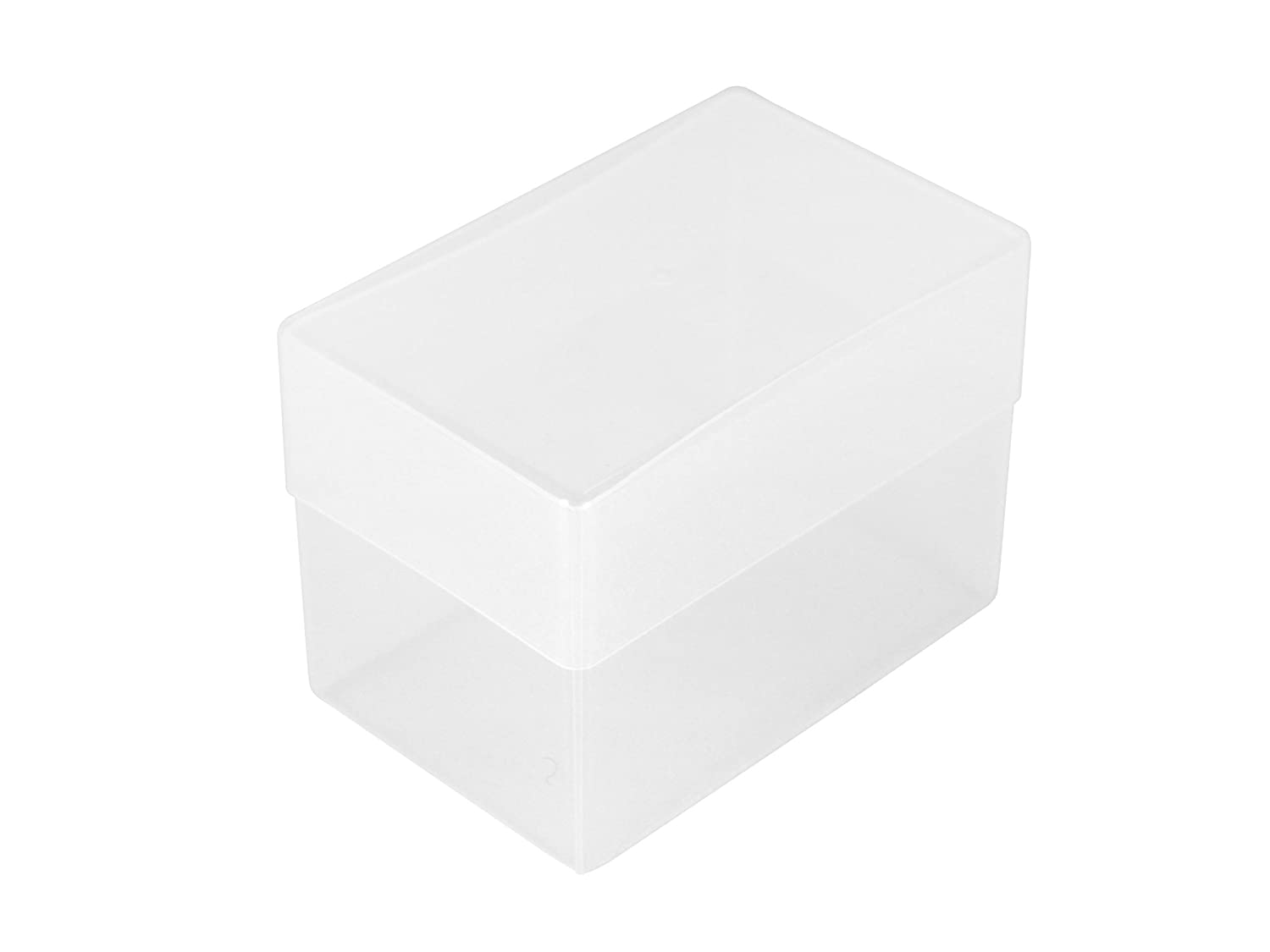 PACK OF 10 CLEAR PLASTIC BUSINESS CARD / CRAFT BOXES 100mm x 65mm x ...