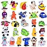 Wind up Toys 25 pcs Assorted Toy Animal for Children's Party Gifts Kids Birthdays (More than 2 Dozen)