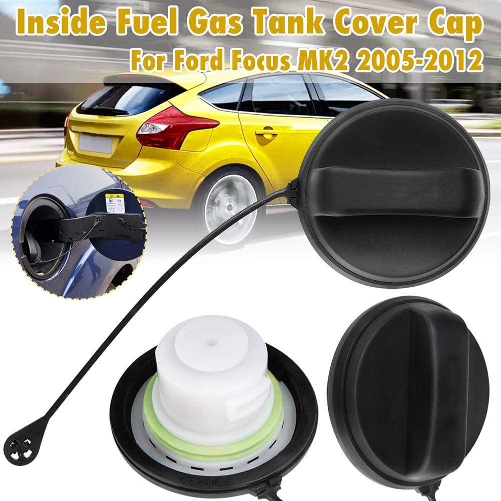 kaakaeu Car Inner Fuel Tank Cap Cover for Ford Focus MK2 2005-2008 Auto Maintenance Replacement Part Accessory