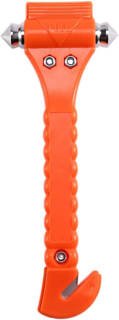 Nrpfell Marteau de S/éCurit/é pour V/éHicule 10 Pi/èCes Marteau de Feu Multifonctionnel Deu en Un Marteau de Sauvetage durgence Portable Outil Brise-Vitre en Verre