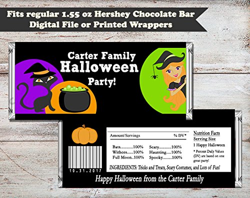 Witches Brew Halloween Personalized Candy Bar Wrapper, Set of 10 ()