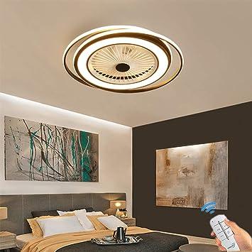 Unsichtbares Fan licht Einstellbar modern LED Deckenventilator mit  Beleuchtung Schlafzimmer Fan Deckenleuchte Dimmbar Einfache Wohnzimmer  leuchte mit ...