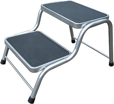Estable doble escalón versátil. Robusto Marco de acero y superficie antideslizante. • Escalera Caravana escalón Caravana Escaleras escalón – Escalera Jardín: Amazon.es: Deportes y aire libre