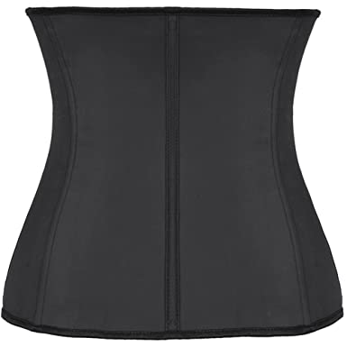 453c690b6ee49 UUGULO Latex Rubber Control Cincher Waist Kim Waist Slim Belt Corset Body  Shaper