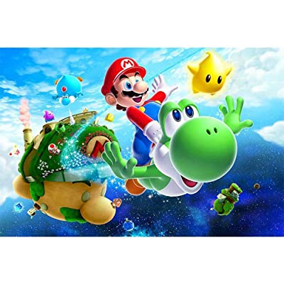 HANHJ 300/500/1000 Piece Large Format Jigsaw Puzzle for Adults - Every Piece is Unique, Technology Means Pieces Fit Together Perfectly Decompression Cartoon Anime-Super Mario: Home & Kitchen