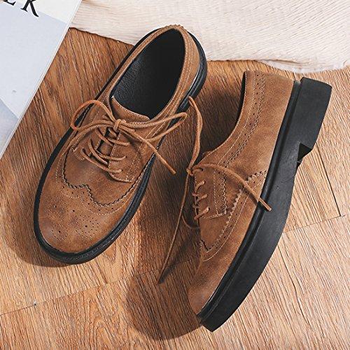 à Artfaerie Chaussures Femme Marron Lacets 5BqxXwCq
