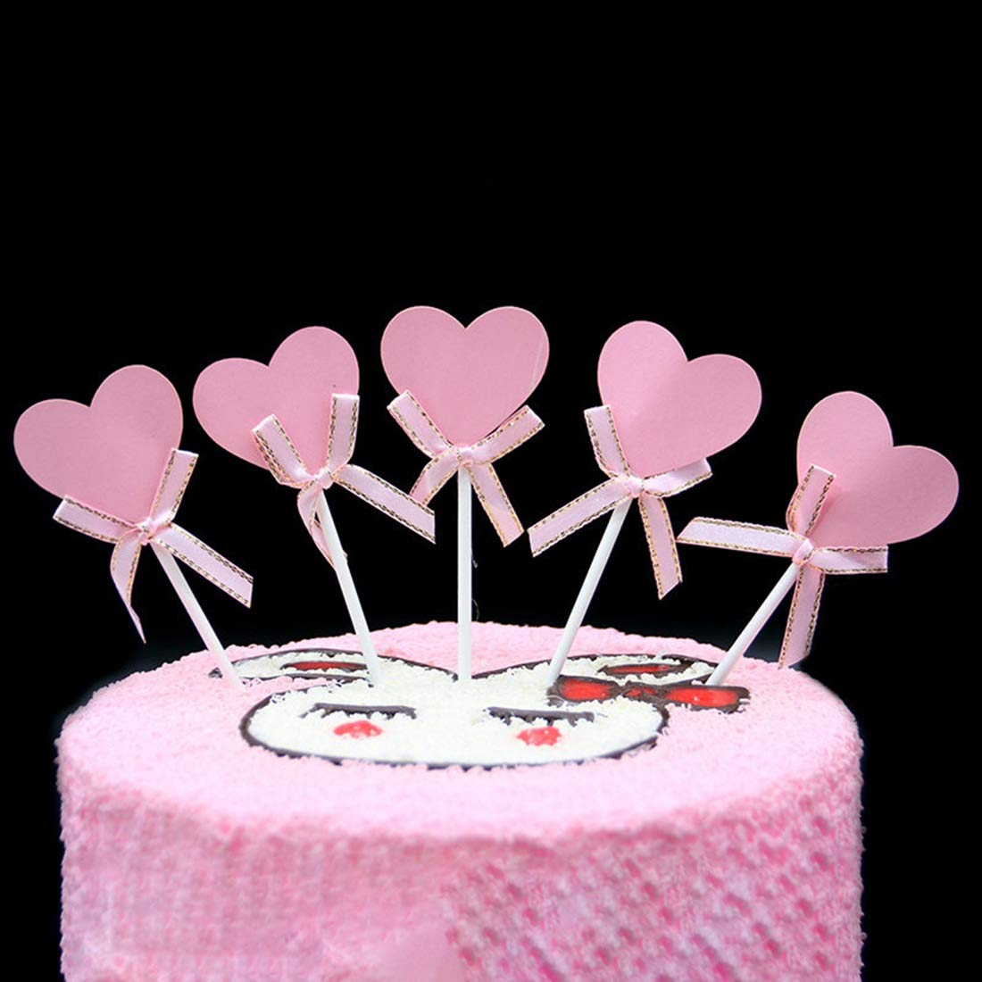 FELICIGG 50 Packs Happy Birthday Cake Topper Dekoration Braut Oder Geburtstag Baby Shower DIY