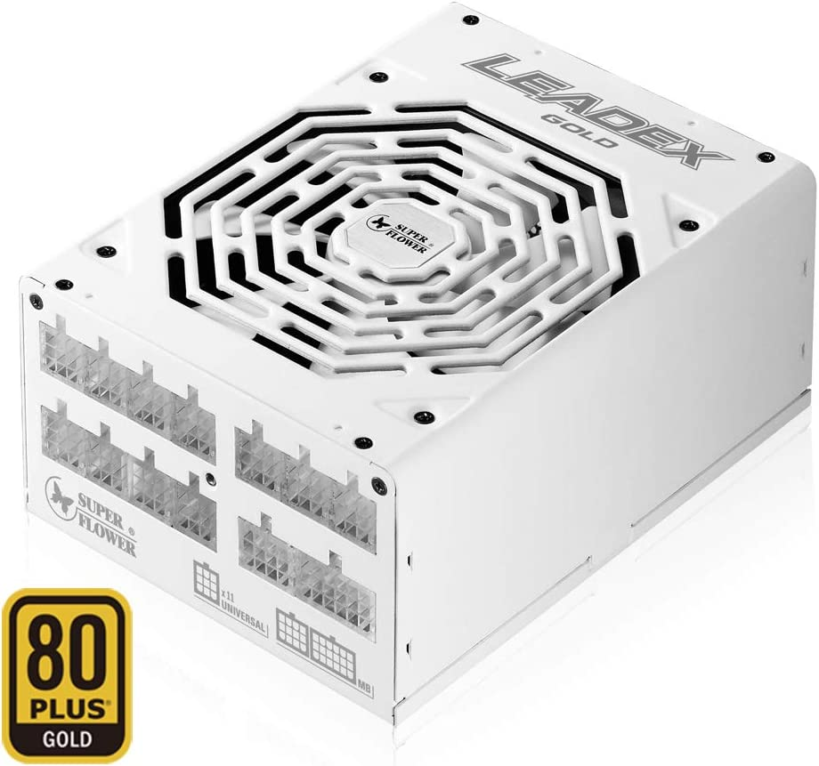 Super Flower Leadex Gold 1300W 80+ Gold, ECO Fanless & Silent Mode, Full Modular Power Supply, Dual Ball Bearing Fan, SF-1300F14MG