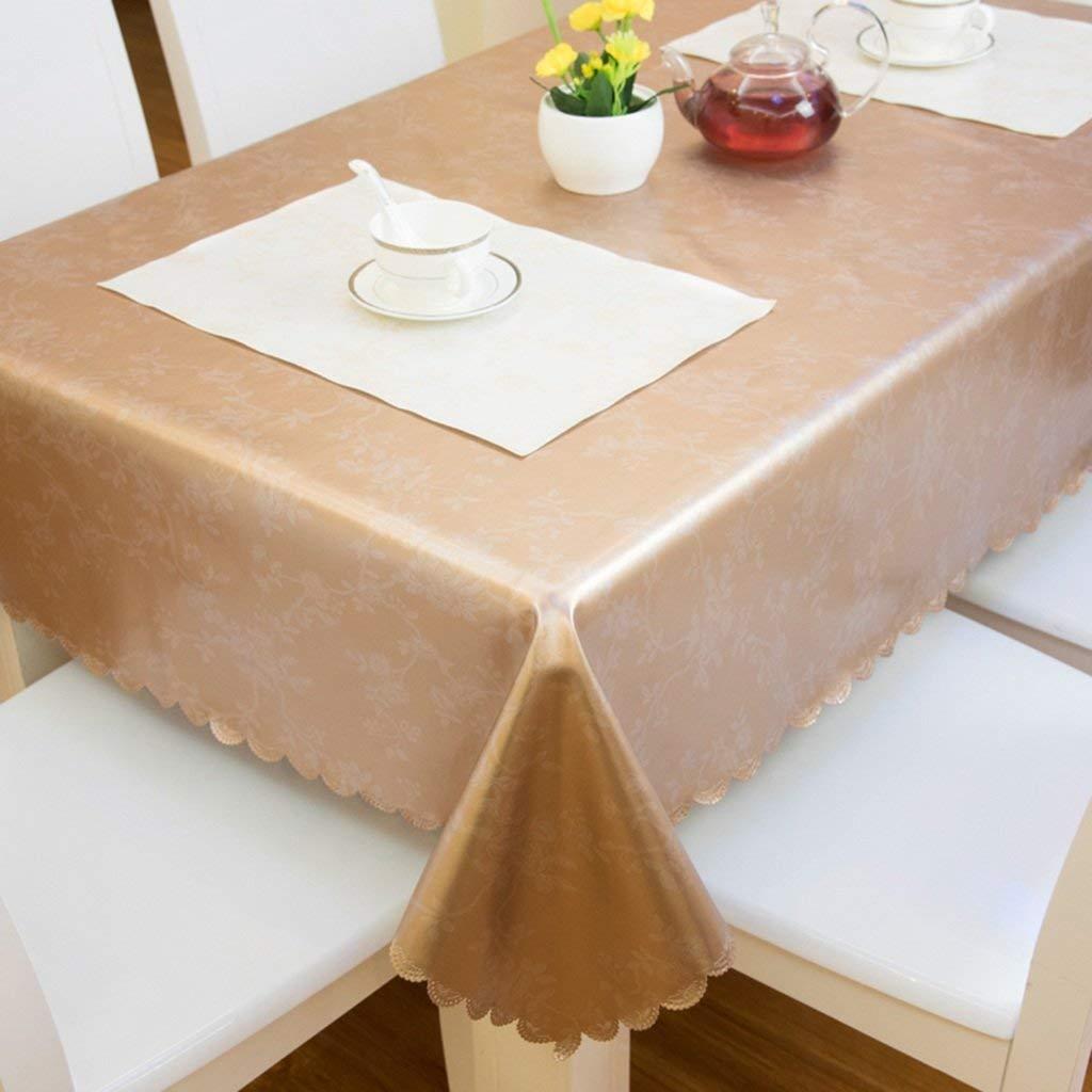 ZYCkeji Einzigartig Tischdecke Wasserdicht Anti-heiß Öl-Beweis Anti-Rutsch-Couchtisch Tuch Rechteck Hotel Rundtisch Tischset Komfortabel (Farbe   B, Größe   130  190cm) B07GH17WKD Tischdecken Feinbearbeitung    Ausgezeichnet