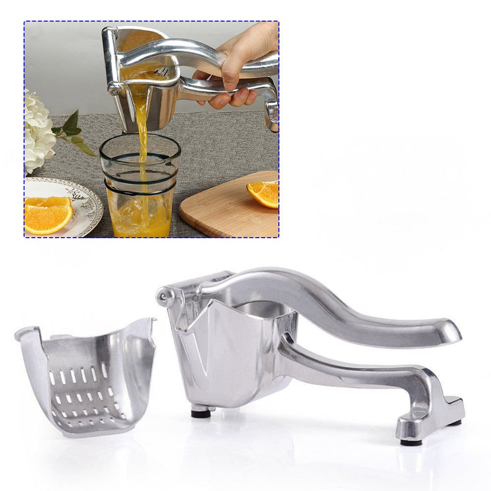 Top Rate Heavy Duty Single Press Lemon Squeezer, Aluminum and Steel Business Lime Hand Squeezer Juicer