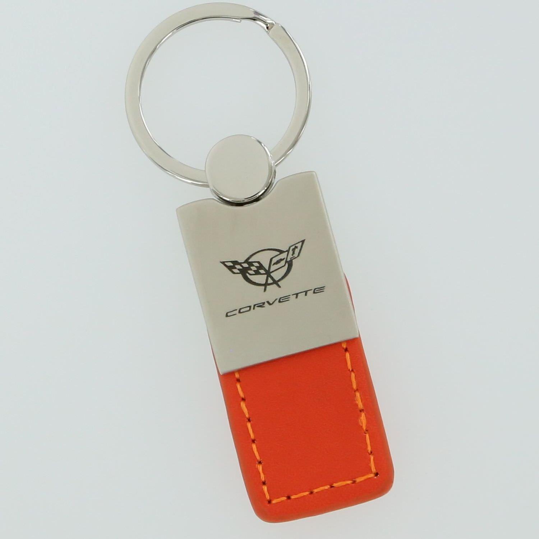 Corvette C5 Naranja Llavero de cuero: Amazon.es: Coche y moto