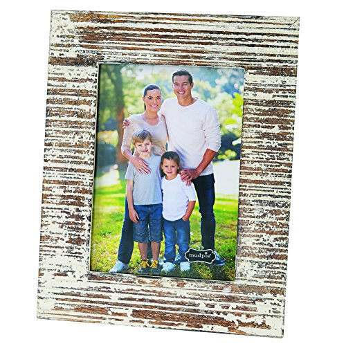 Mud Pie Distressed White-Washed Wood Picture Frame 5