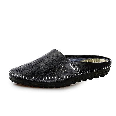 67c14d72ea6 Amazon.com | Go Tour Men's Comfortable Soft Scuff Leather Slippers ...