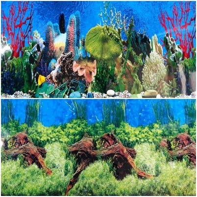 L H Double Sided Aquarium Background Decorations x 19 Karen Low 60